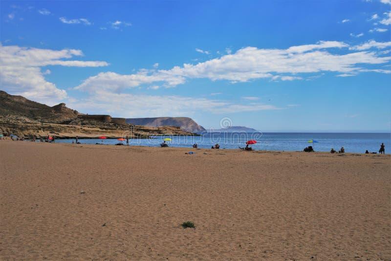 Plaża Playazo De Rodalquilar Nijar Almeria Andalusia Hiszpania zdjęcia royalty free
