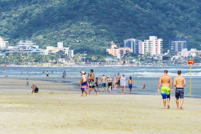 Plaża Praia da Enseada, Guaruja SP Brazylia zdjęcie royalty free