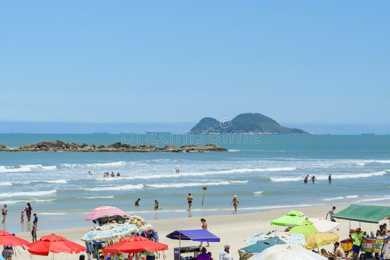 Plaża Praia das Pitangueiras, Guaruja obraz royalty free