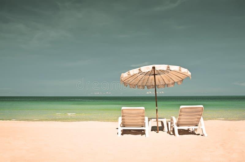 plaża przewodniczy parasol fotografia royalty free