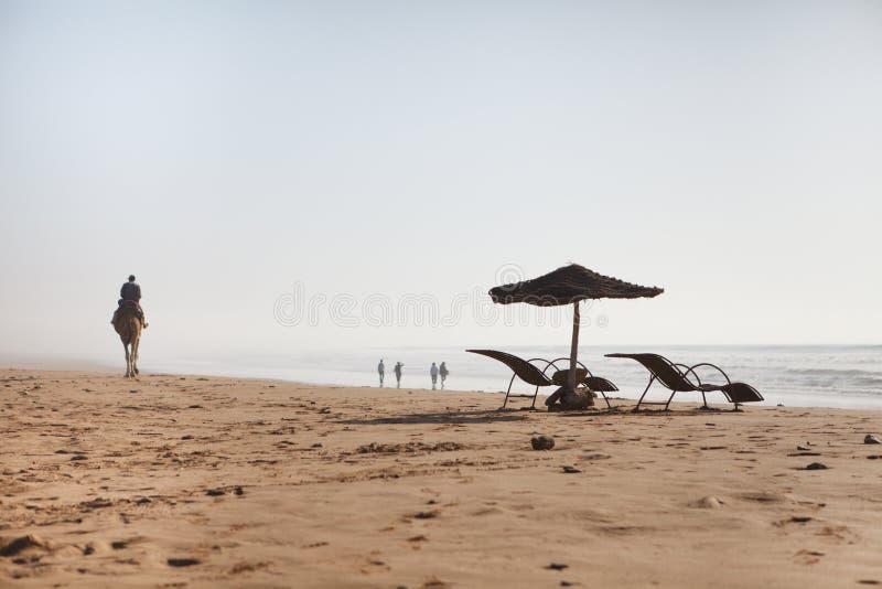 plaża przewodniczy ranek fotografia stock