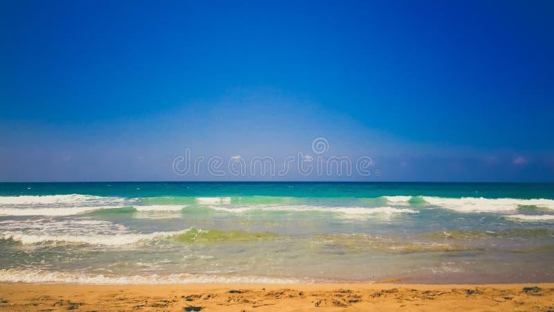 Plaża przy Alanya zdjęcia stock