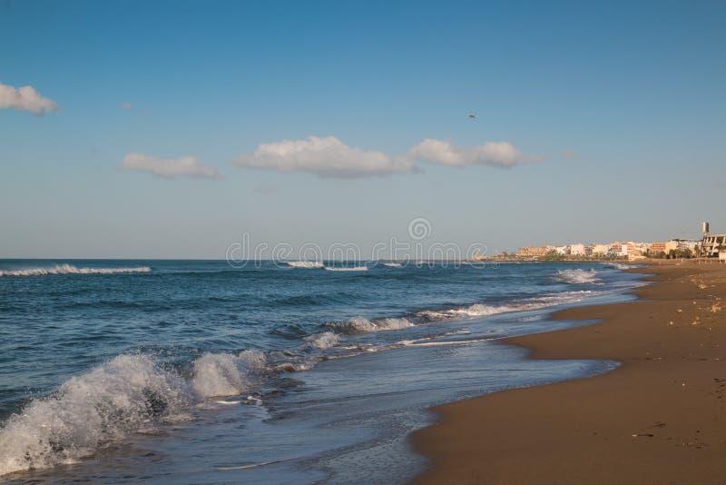 Plaża przy Heraklion, Crete, Grecja zdjęcia royalty free