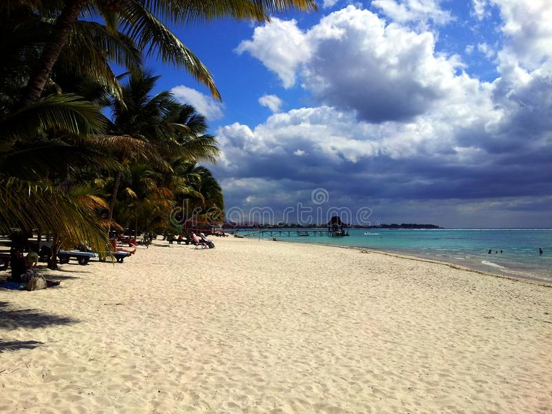 Plaża przy Mauritius wyspą zdjęcie royalty free