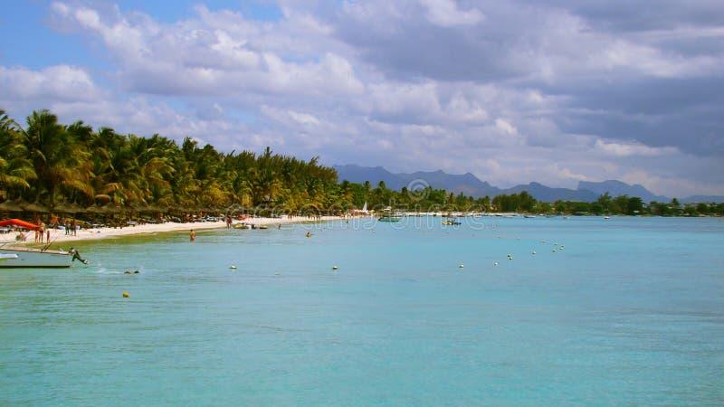 Plaża przy Mauritius wyspą obraz stock