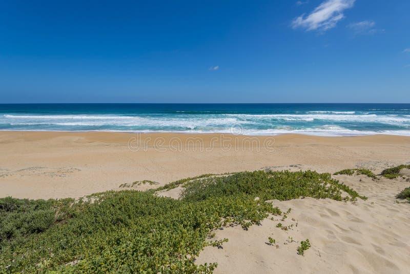 Plaża przy Ogrodową trasą, Południowa Afryka fotografia royalty free