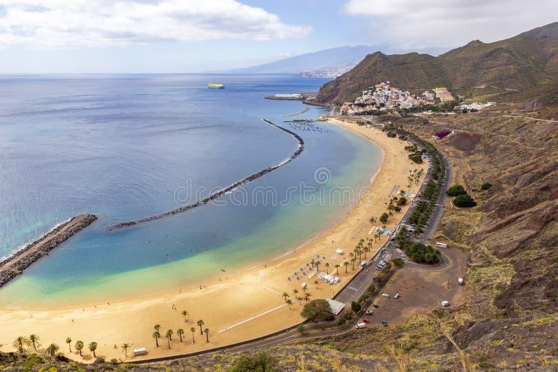 Plaża przy San Andres Tenerife wyspa kanaryjska Tenerife fotografia stock