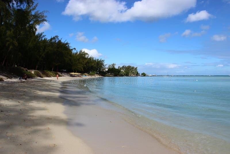 Plaża przy Uroczystym Baie, Mauritius fotografia stock