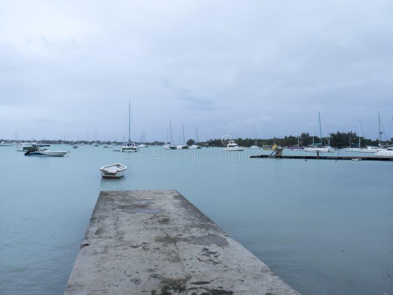 Plaża przy uroczystym, Mauritius zdjęcie stock