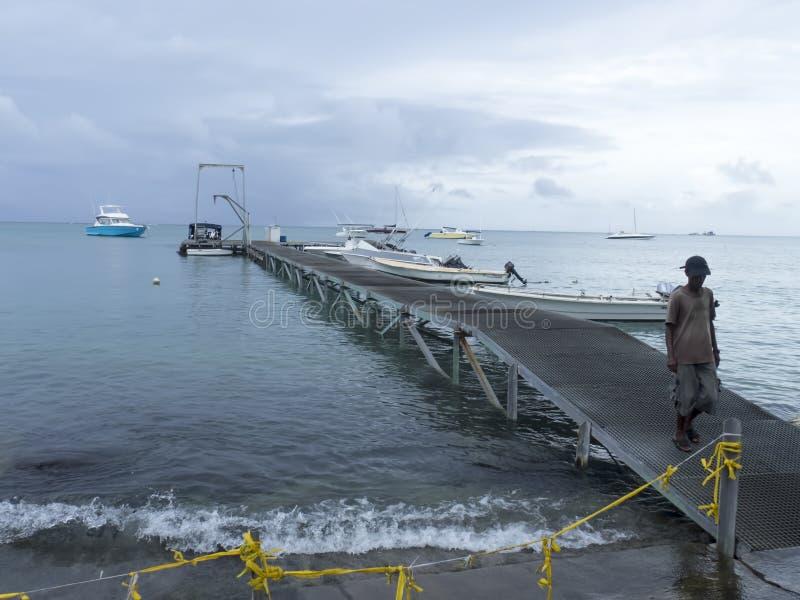 Plaża przy uroczystym, Mauritius obraz stock