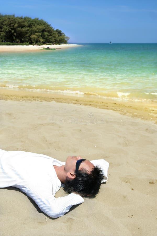 plaża puszka kłamstwo tropikalny fotografia royalty free