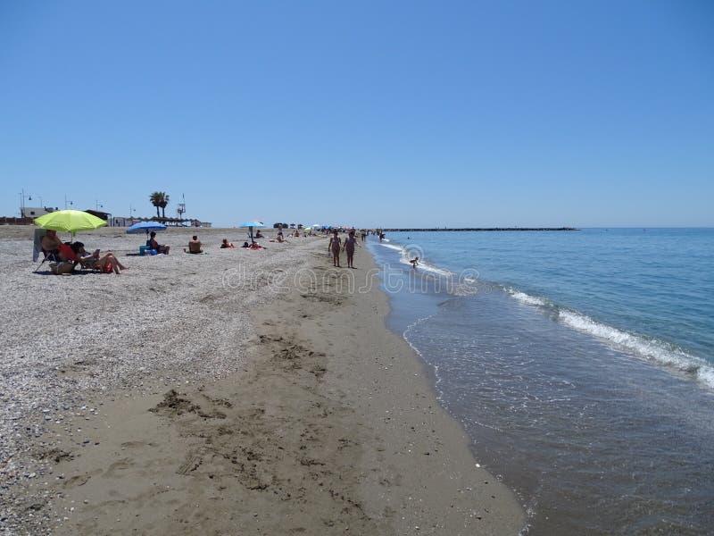 Plaża San Miguel od El Ejido Almeria Andalusia Hiszpania zdjęcia stock