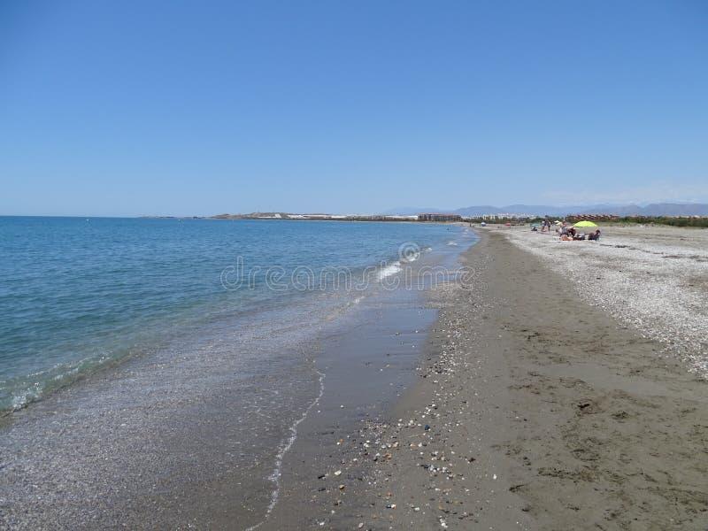 Plaża San Miguel Poniente od El Ejido Almeria Andalusia Hiszpania zdjęcie stock