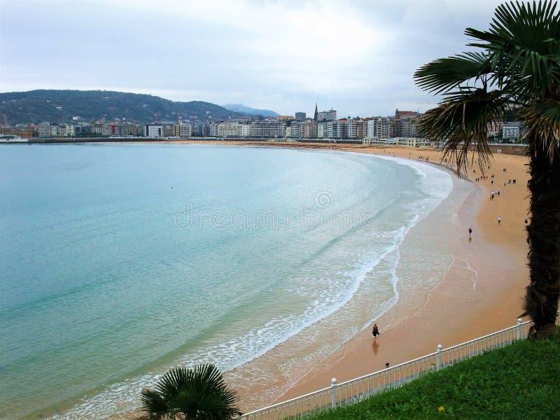 Plaża San Sebastian w Hiszpania zdjęcia stock