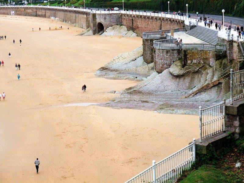 Plaża San Sebastian w Hiszpania obrazy stock