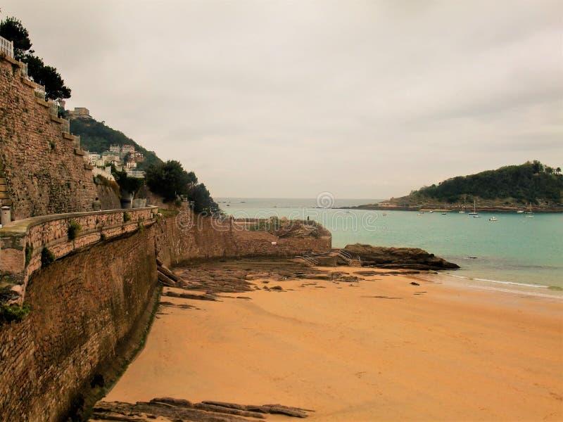 Plaża San Sebastian w Hiszpania fotografia stock