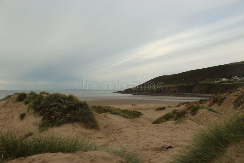 Plaża Saunton Sands w Devon, południowo-zachodnia UK obrazy royalty free