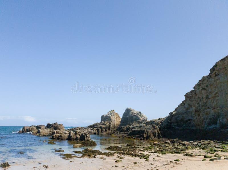 plaża skalna obraz stock