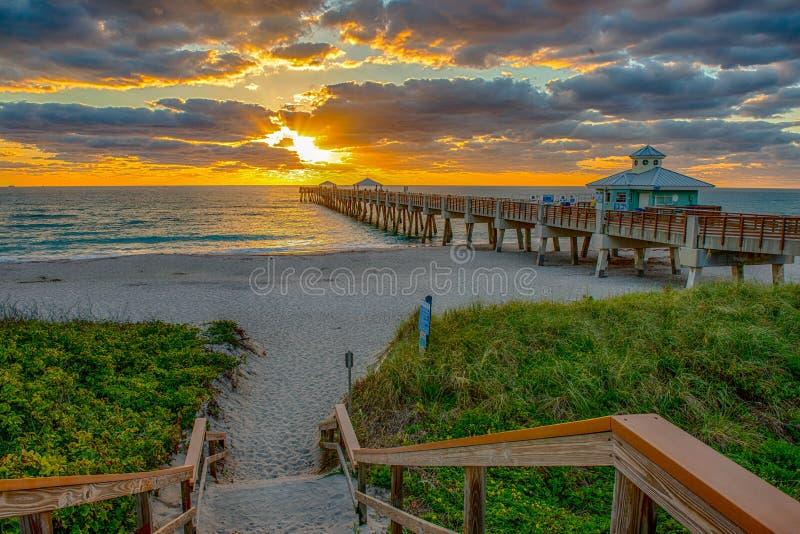 Plaża Sunrise fotografia royalty free