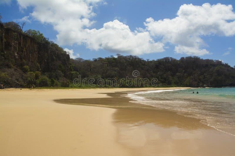 Plaża W Brazylijskiej wyspie zdjęcia stock