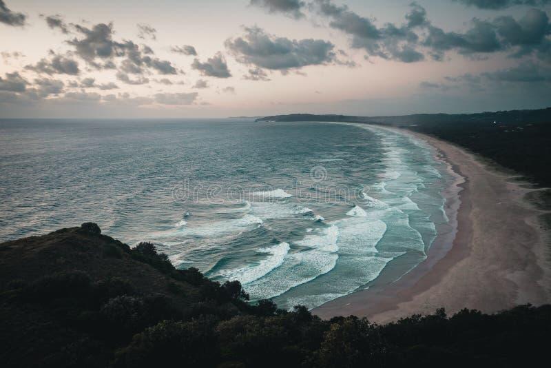 Plaża w Byron zatoce Australia fotografia royalty free