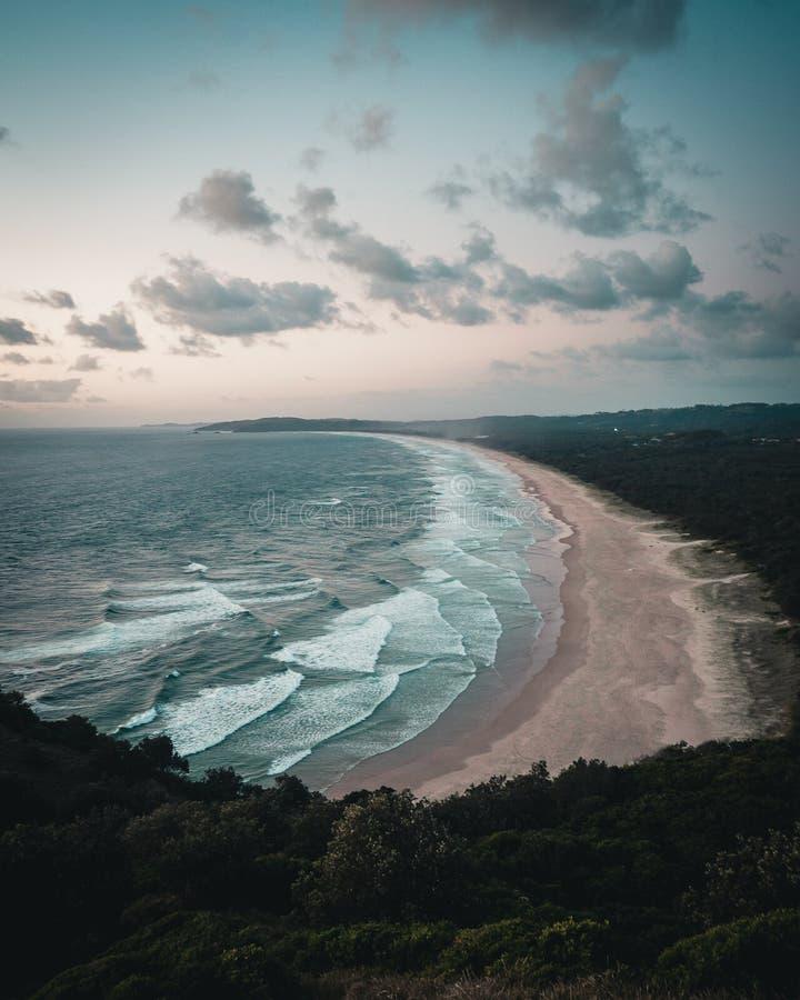 Plaża w Byron zatoce Australia zdjęcie royalty free