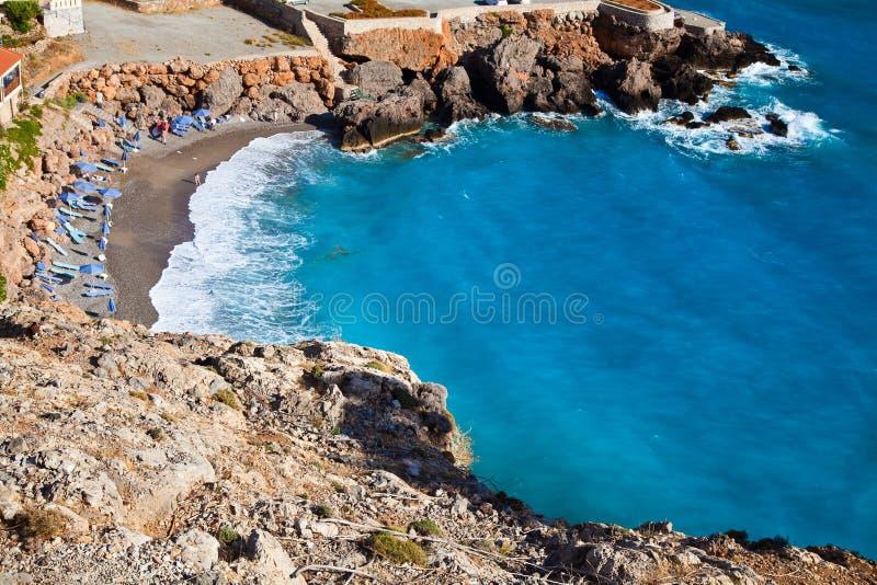 Plaża w Chora Sfakion zdjęcie stock