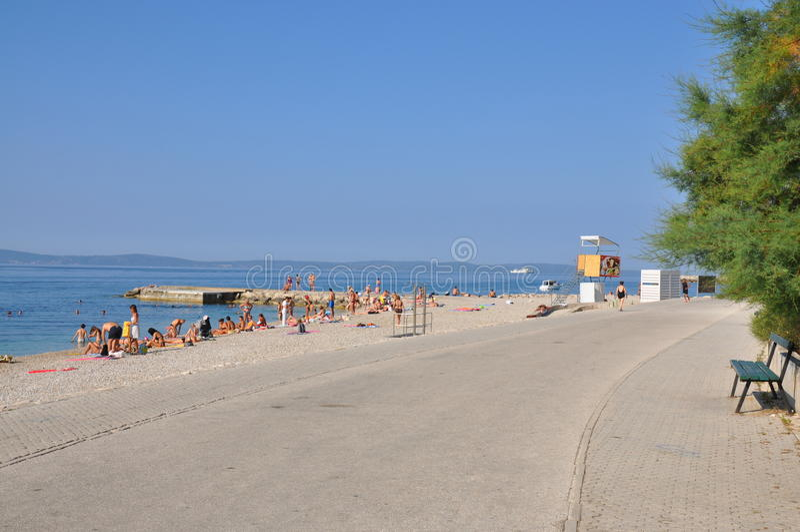 Plaża w Chorwacja, rozłam zdjęcie royalty free