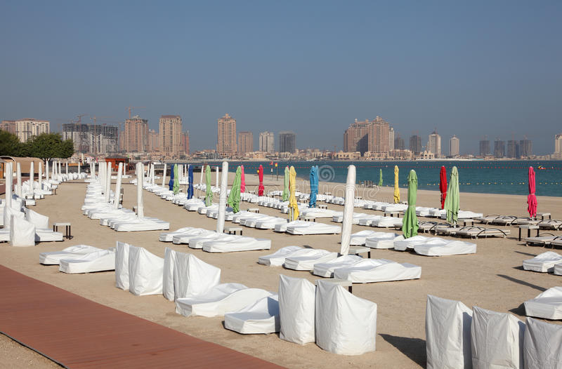 Plaża w Doha, Katar obraz royalty free