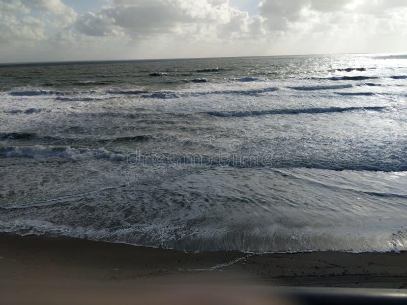 Plaża w Florida falach i seafoam pięknym krajobrazie fotografia royalty free