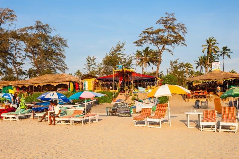 Plaża w Goa, India obraz stock