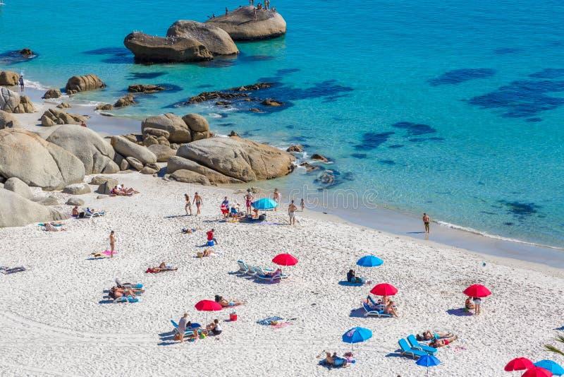 Plaża w Kapsztad, Południowa Afryka obrazy royalty free