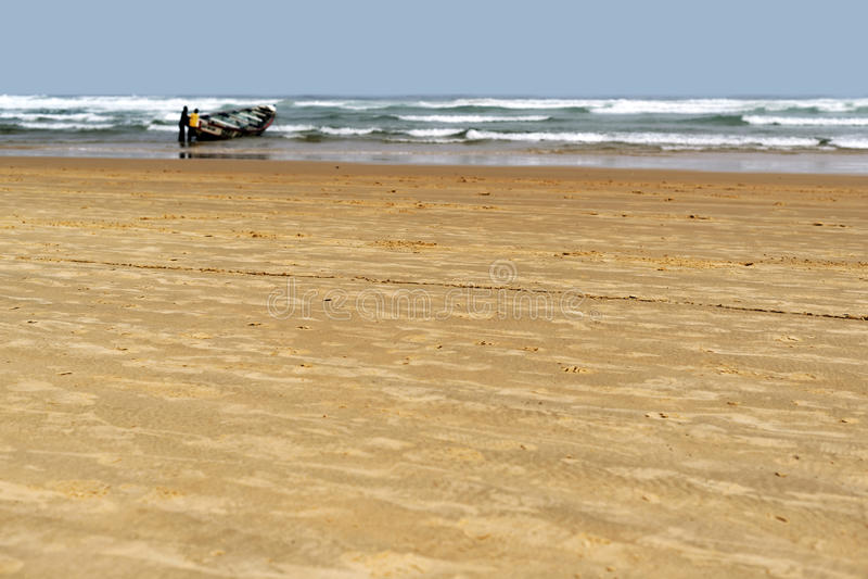 Plaża w Mauretania zdjęcia royalty free