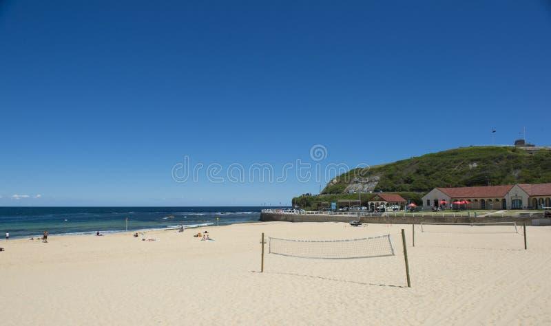 Plaża w Newcastle Australia obrazy royalty free