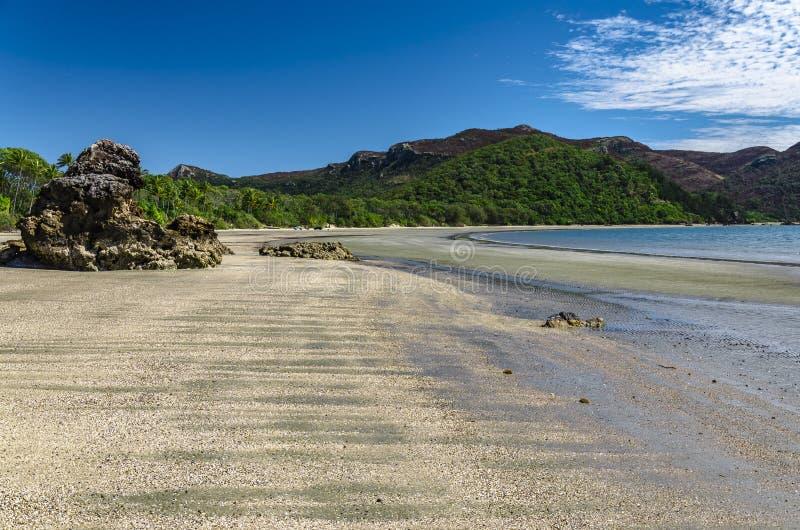 Plaża w przylądka Hillsborough parku narodowym, Australia obrazy royalty free