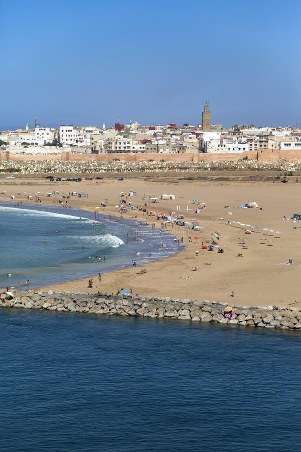 Plaża w Rabat, Maroko obraz stock