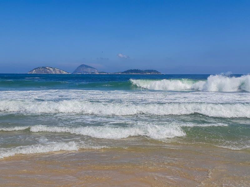 Plaża w Rio De Janeiro, Brazylia zdjęcia stock