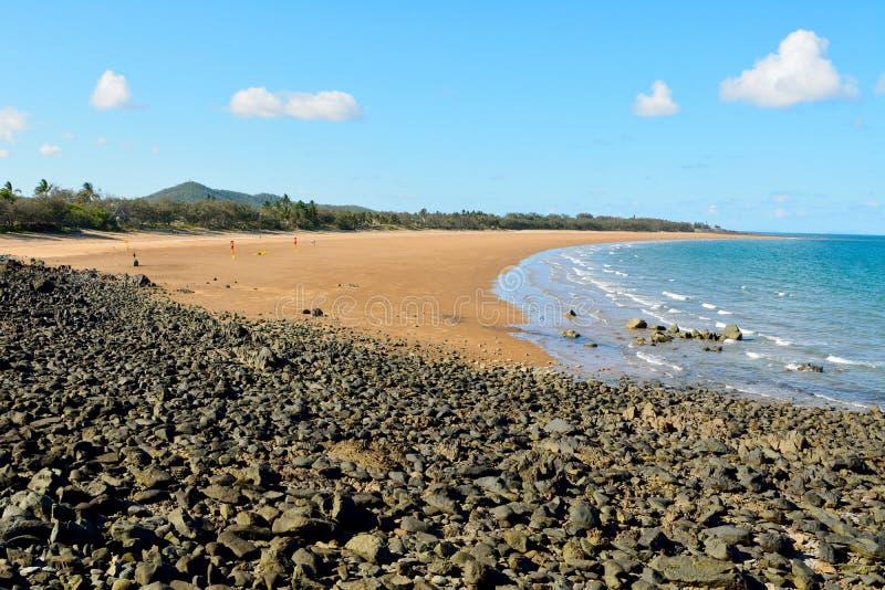 Plaża w Sarina, Queensland zdjęcia stock