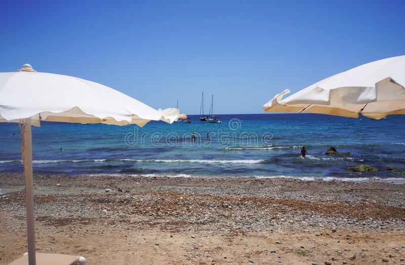 Plaża w Tabarca2 zdjęcia stock