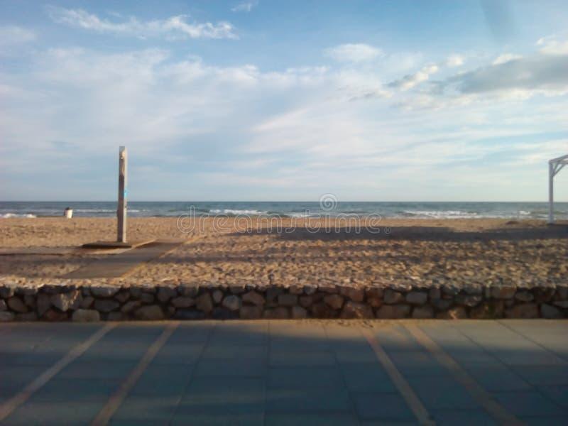 Plaża w Tarragona zdjęcie stock