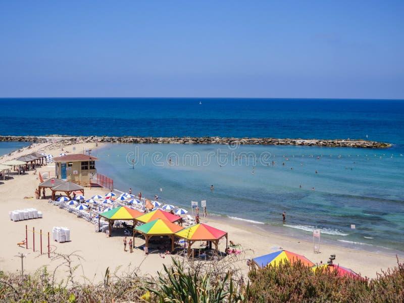Plaża w Tel Aviv fotografia royalty free