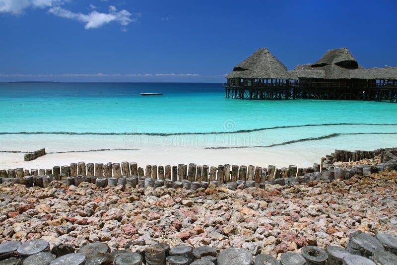 Plaża w Zanzibar obraz stock