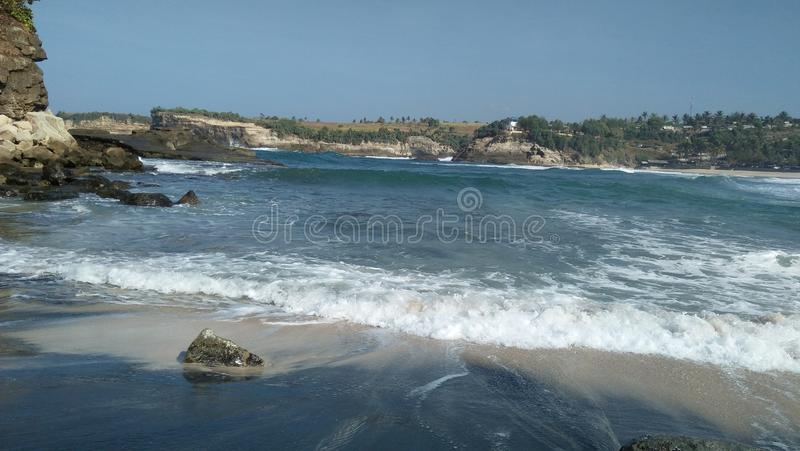 Plaża wschodni Java Indonesia zdjęcia stock