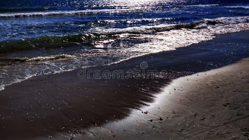 Plaża z pęcznieniem obraz royalty free