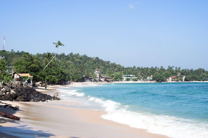 plaża zaludniająca zdjęcie stock