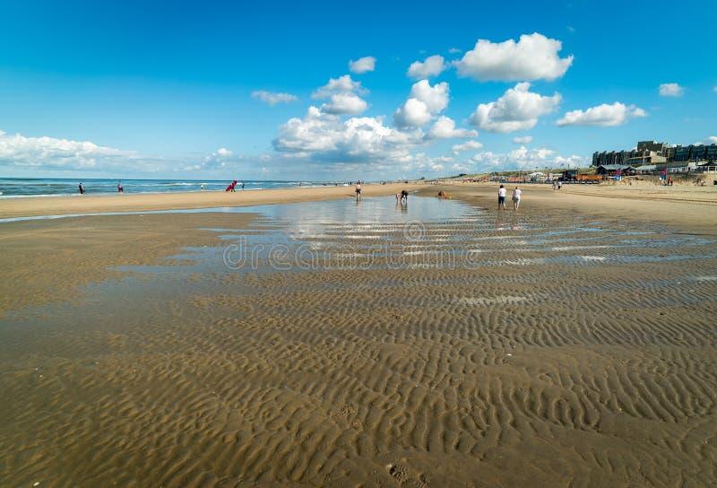 Plaża Zandvoort aan Zee holandie zdjęcie stock