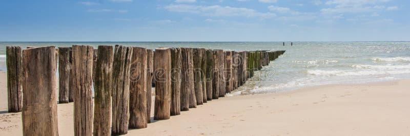 Plaża, Zeeland zdjęcie royalty free