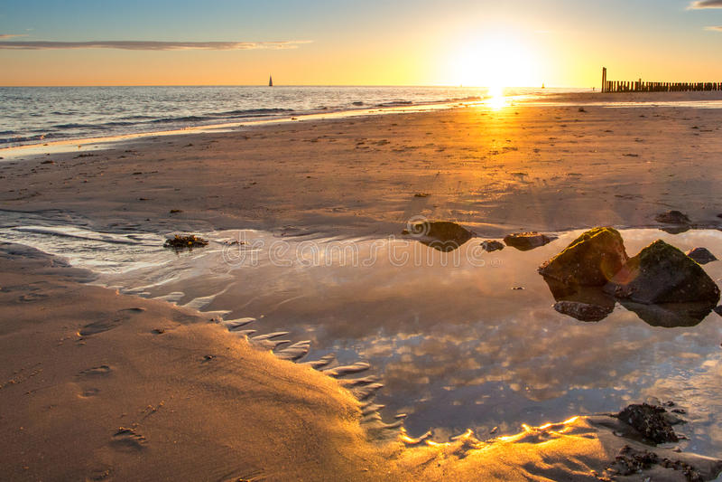 Plaża, Zeeland fotografia stock