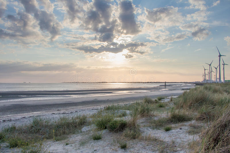 Plaża, Zeeland zdjęcia royalty free