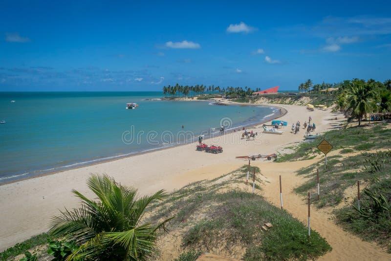 Plaże Brazylia, Maracajau - RN fotografia royalty free
